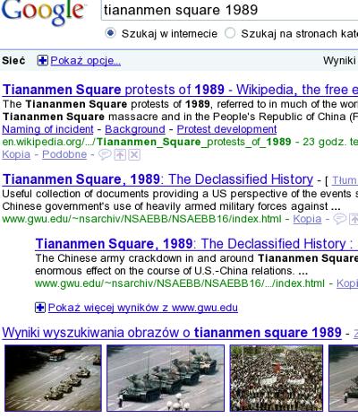 Wynik wyszukiwania w google.pl