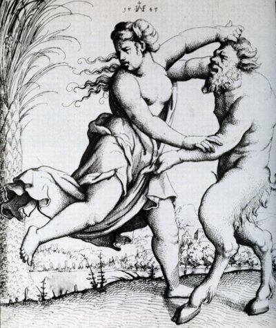Mitologiczny Satyr