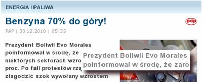 I artykuł o Boliwii...