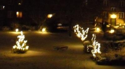Świąteczne lampki na każdym kroku